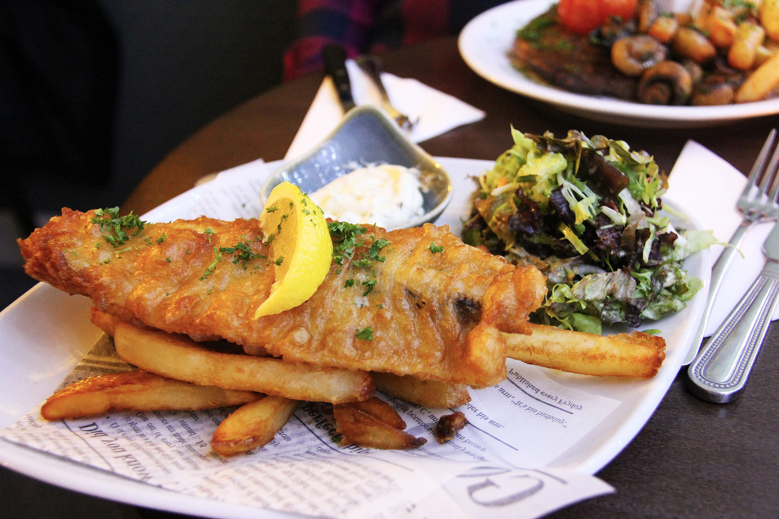 Canva - Fish And Chip Plate