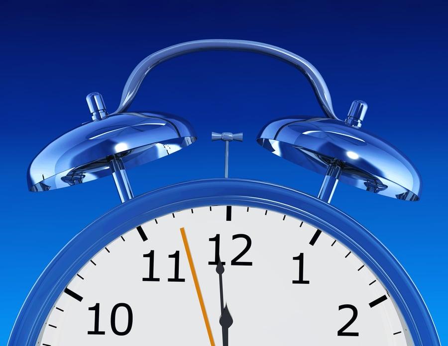 blue alarm clock illustration made in 3d