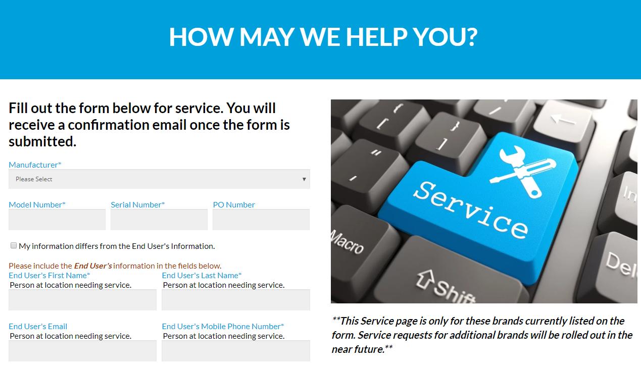 WDC Service Form Example